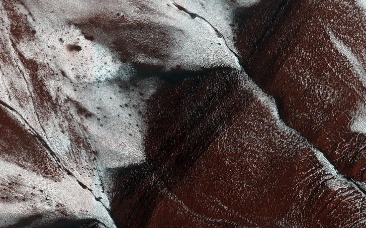 Фото ледника на Марсе