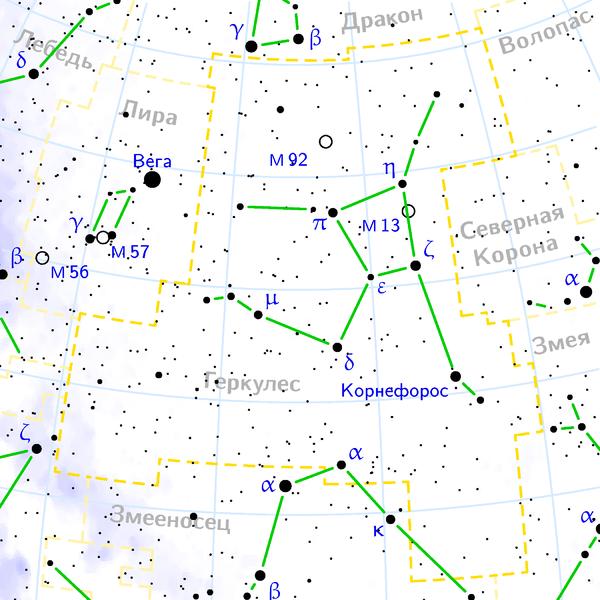 М13 в Созвездии Геркулеса
