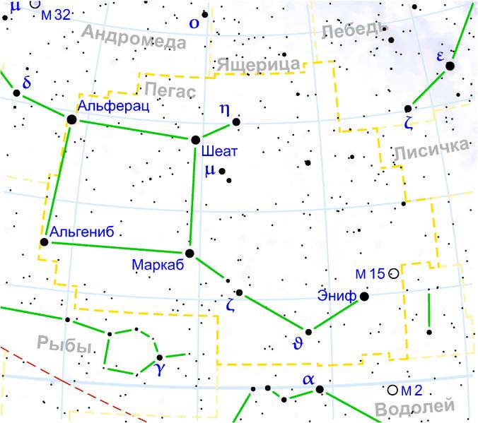 М15 в Созвездии Пегаса