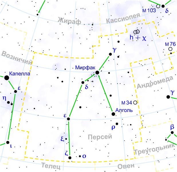 M34 - Рассеянное скопление