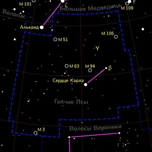 М3 находится в Созвездии Гончих Псов