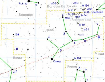 M49 в созвездии Девы