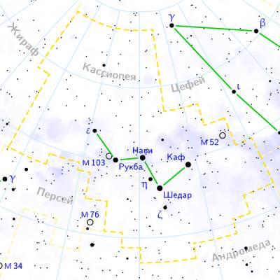 Скопление М52 в Кассиопее