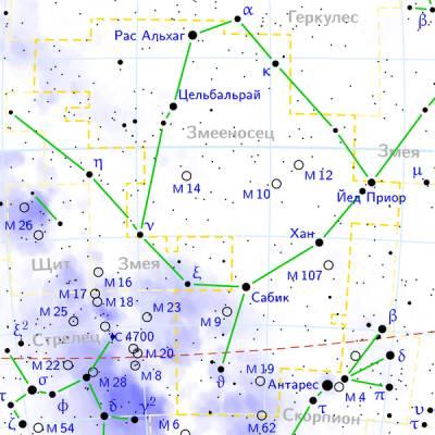 M63 в созвездии Гончих Псов