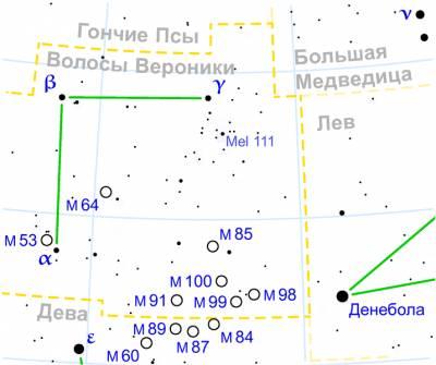 Галактика M64 в Волосах Вероники