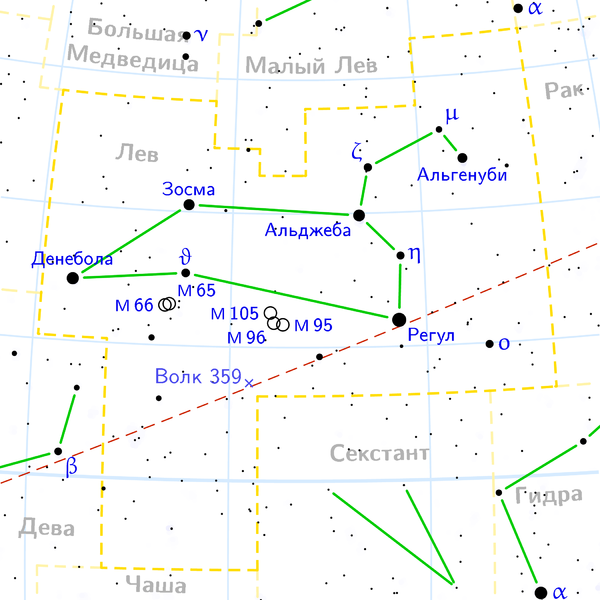 M66 в созвездии Льва