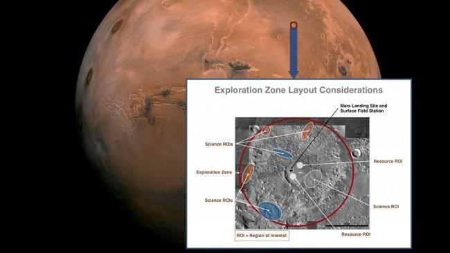 NASA ищет место для высадки на Марсе