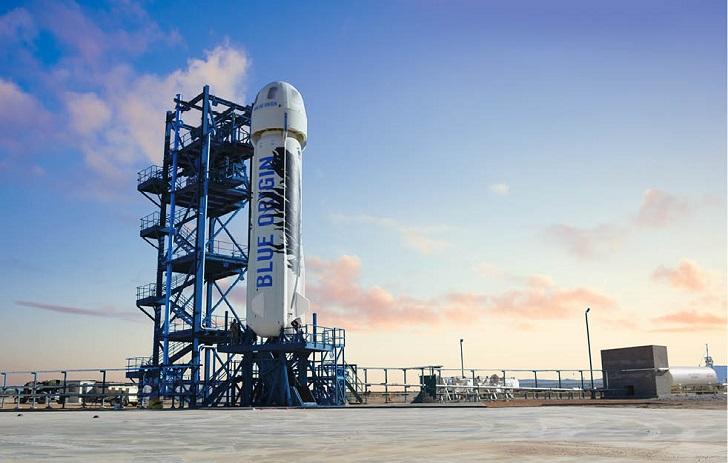 Подробности полёта корабля New Shepard компании Blue Origin