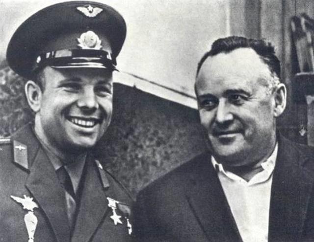 Сергей Королёв и Юрий Гагарин
