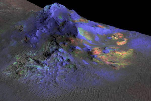 Залежи стекла на Марсе