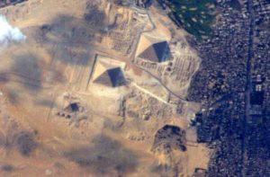Фото египетских пирамид из космоса