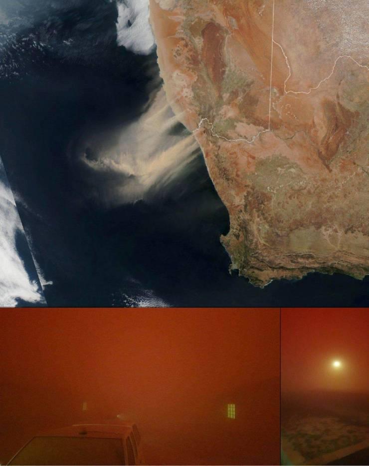 Фото песчаной бури из космоса