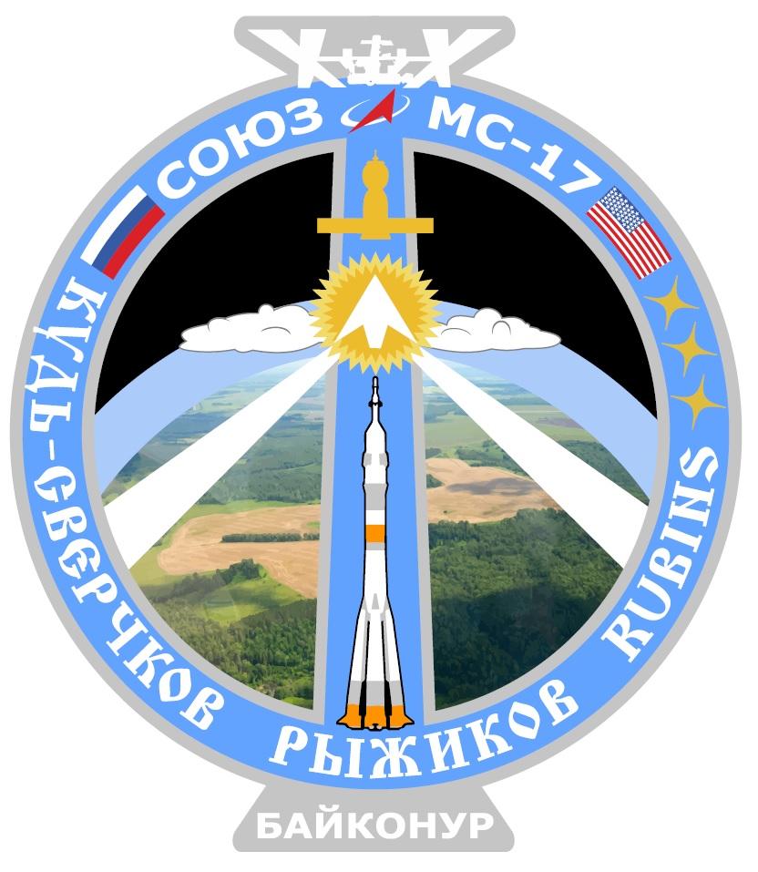 Экипаж корабля «Союз МС-17» представил свою эмблему