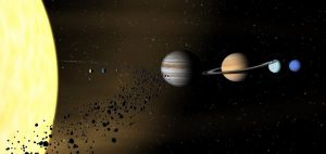Астероиды с края Солнечной системы перемещаются между Марсом и Юпитером